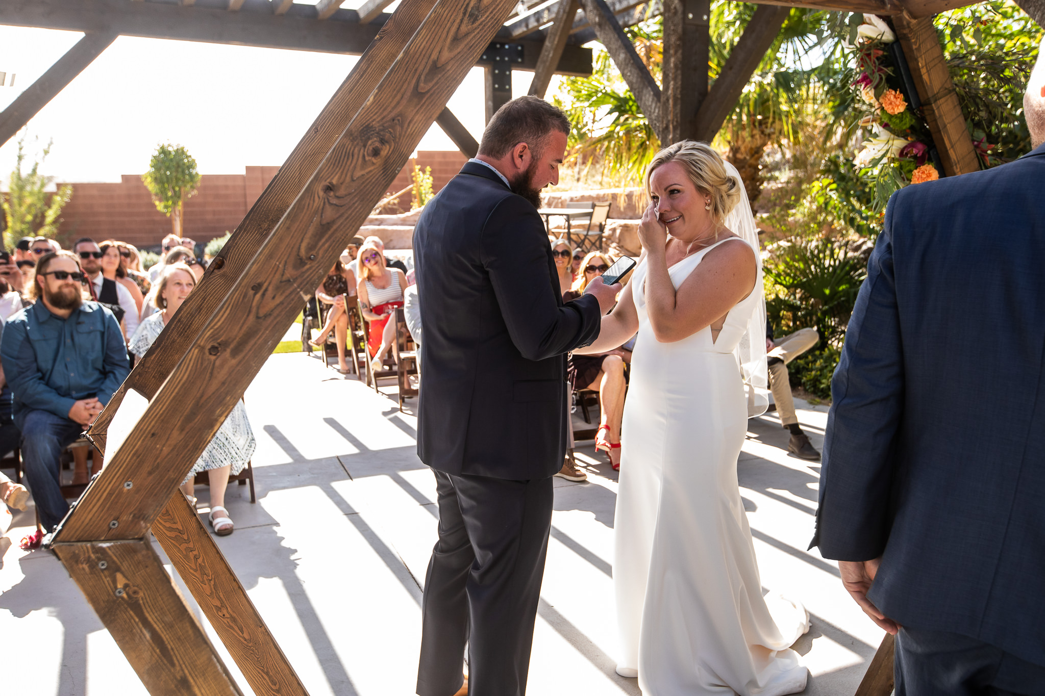 Couple Reads Vows to each other