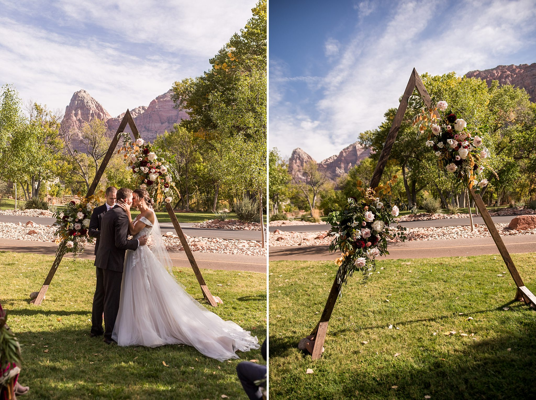 Wedding Ceremony at the Base of Zion National Park