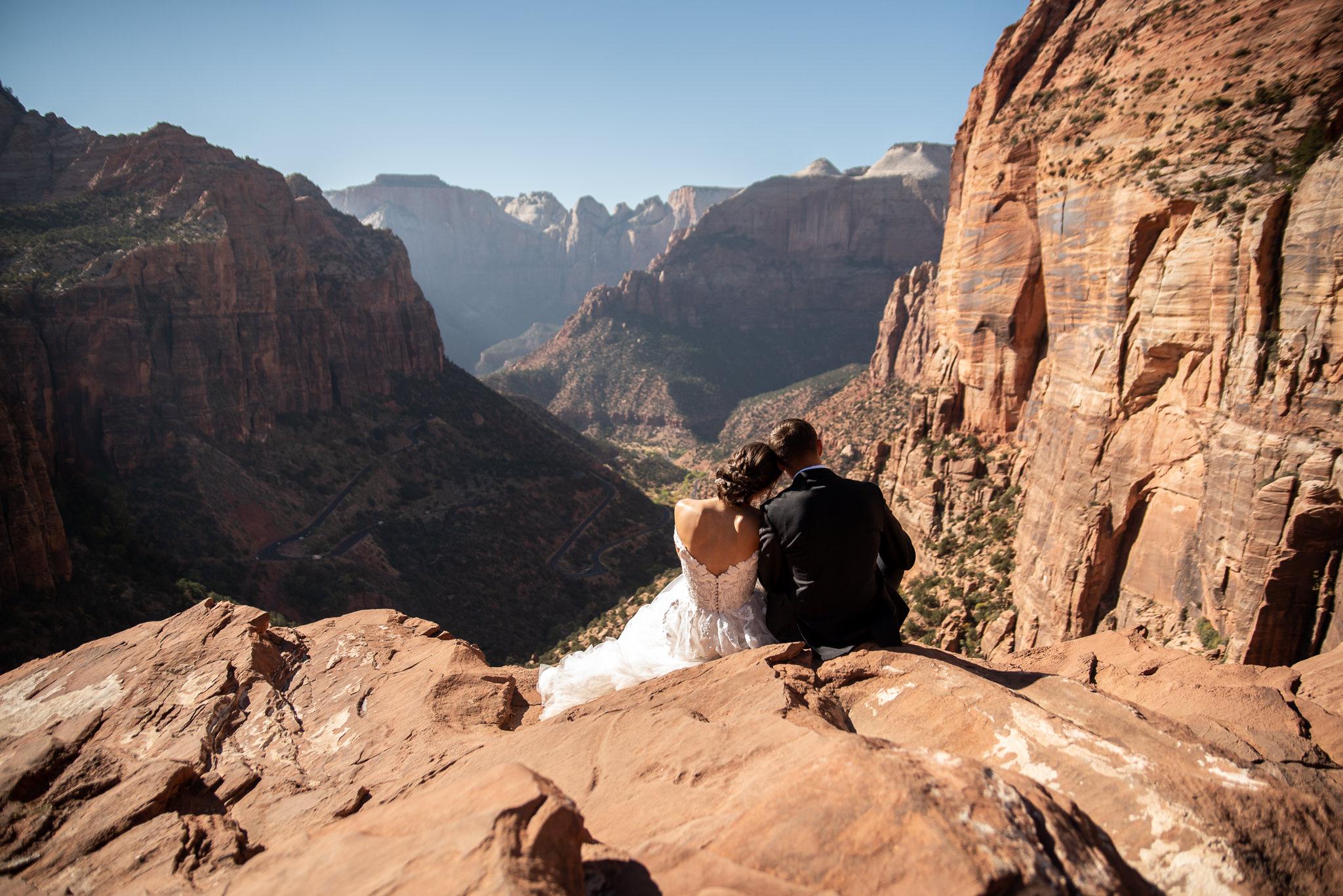 Wedding Portraits Canyon Overlook