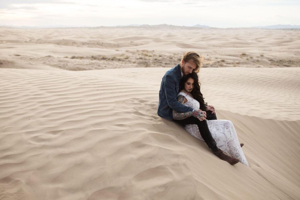 Bridal Photos on the Sand Dunes