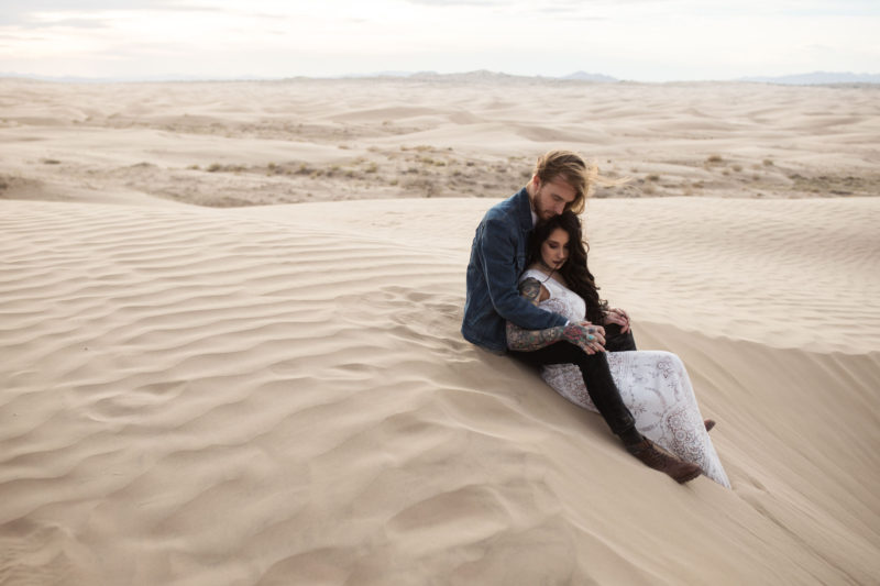 Bridal Photos on the Sand Dunes